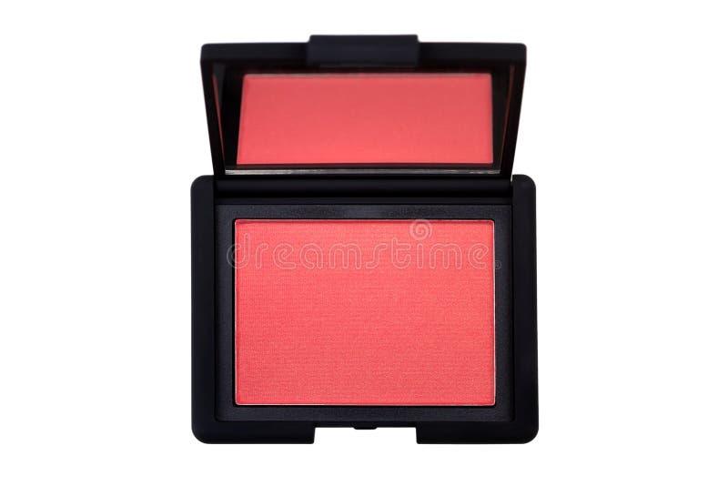 Erröten Sie in den rosa korallenroten Schatten, Kosmetik mit goldenem Schimmer für che lizenzfreie stockfotos