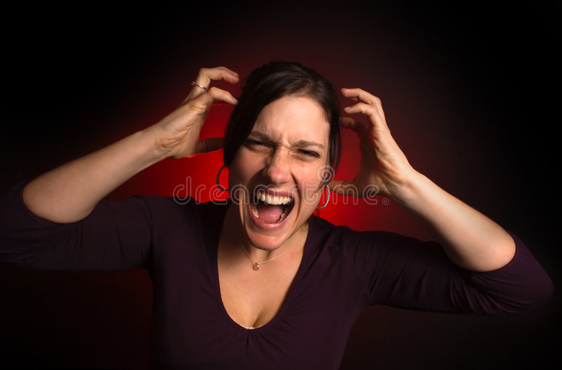 Erratic Female Model With PMS Stock Photography