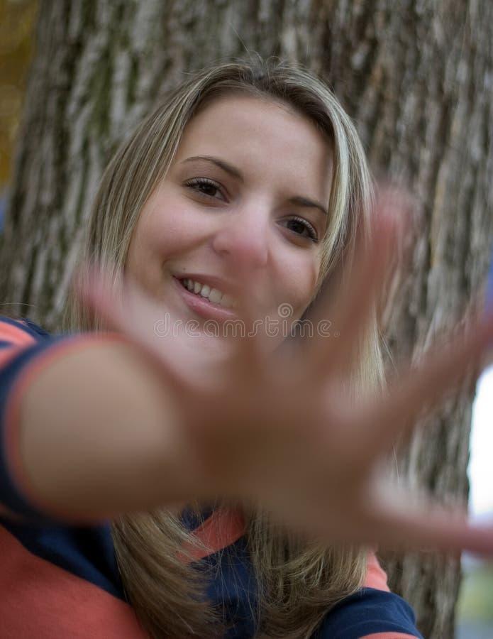 Erreichen Der Hand Stockbild