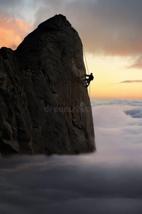 Erreichen des Gipfels stockfotos