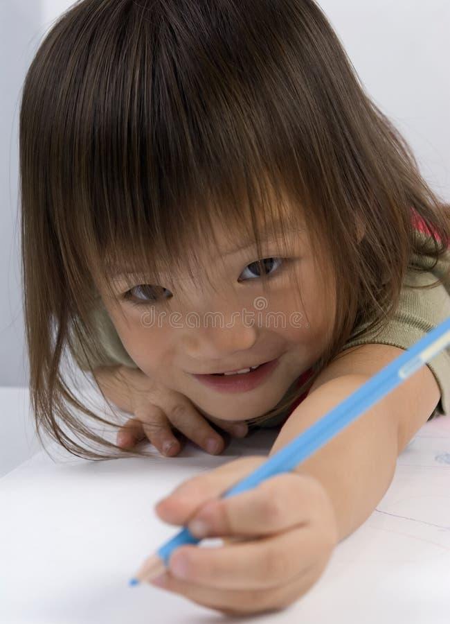 Erreichen Mit Dem Bleistift Lizenzfreies Stockbild