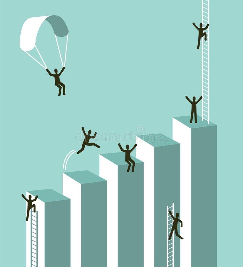 Erreichen zu Geschäftserfolg stock abbildung