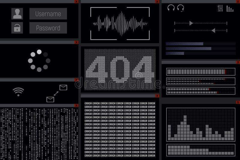 Erreur 404 illustration stock