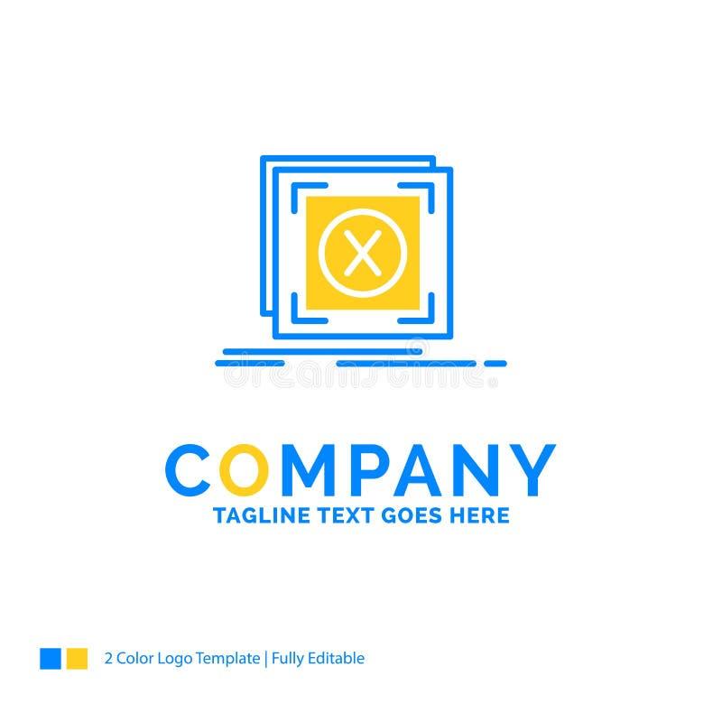 erreur, application, message, problème, affaires jaunes bleues de serveur illustration stock