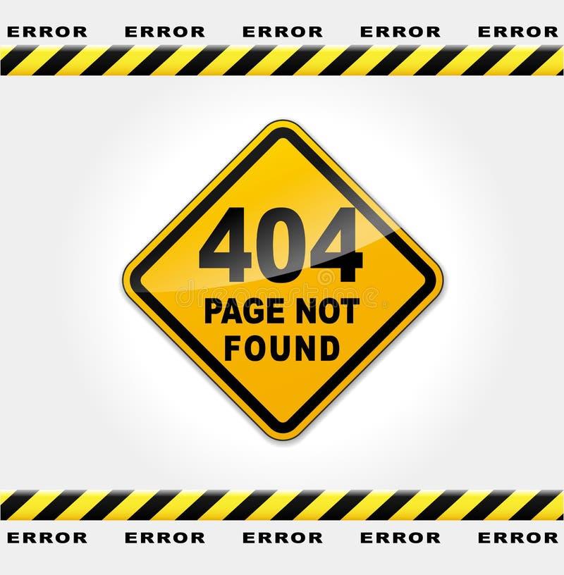 Erreur de page Web de vecteur illustration de vecteur