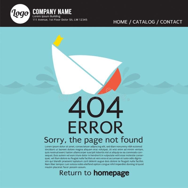 Erreur non trouvée 404 de page illustration stock