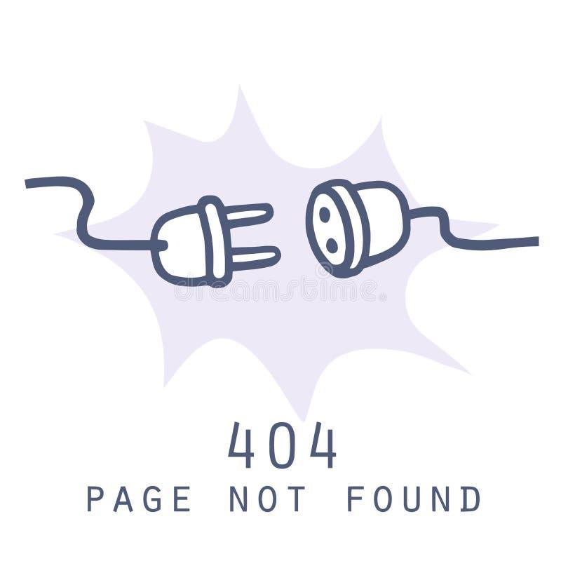 Erreur non trouvée de 404 pages Calibre de page de connexion internet Illustration de vecteur de griffonnage illustration stock