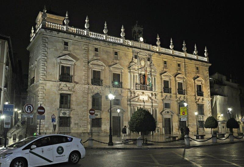 Errichten des Kammergerichts von Andalusien-Granada stockbilder