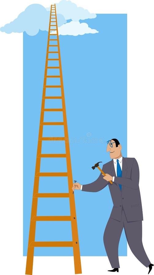 Errichten einer Leiter des Erfolgs lizenzfreie abbildung