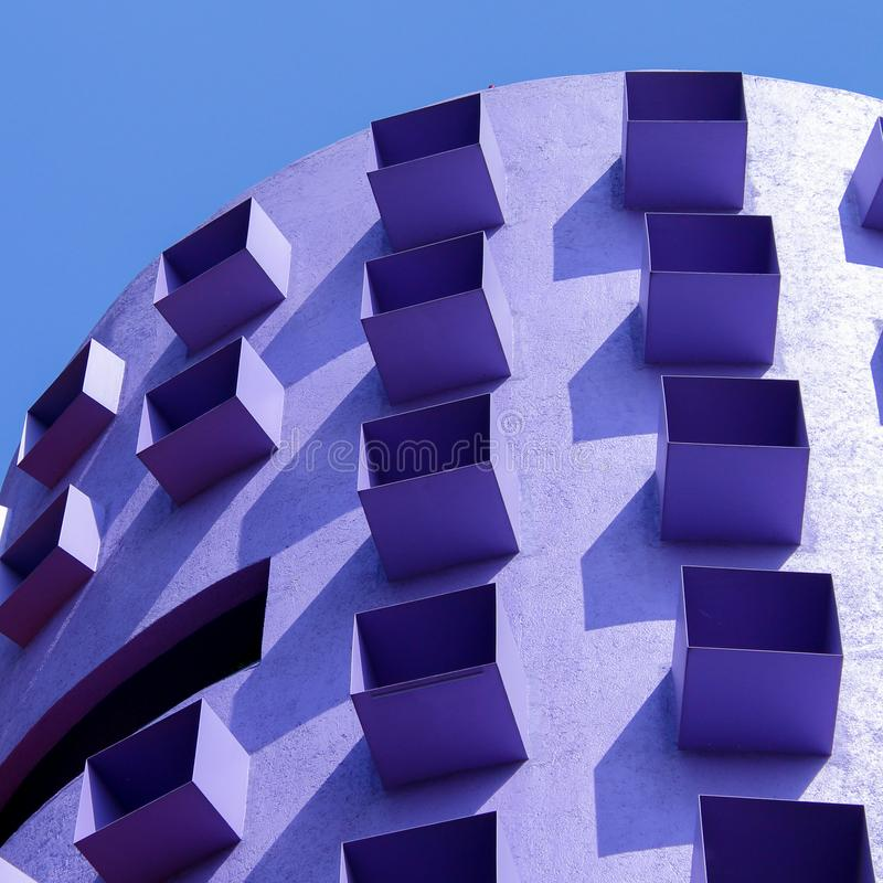 Errichtende Farbschatten in Mexiko City stockbild