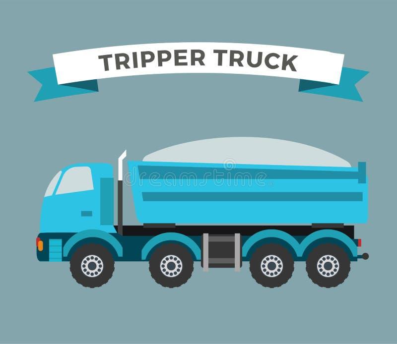 Errichtende im Bau Tripper-LKW-Maschine stock abbildung