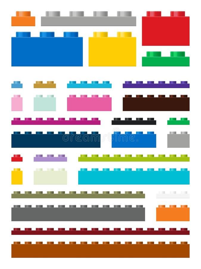 Errichtende Stücke des Spielzeugs im Vektor stock abbildung