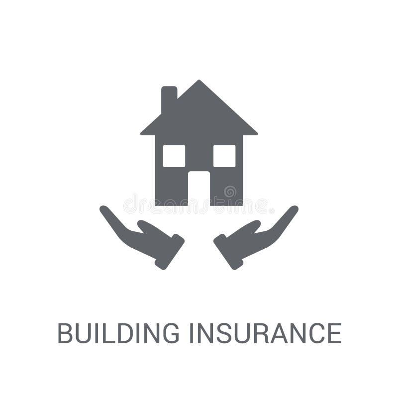 Errichtende Versicherungsikone Modisches errichtendes Versicherungslogokonzept vektor abbildung