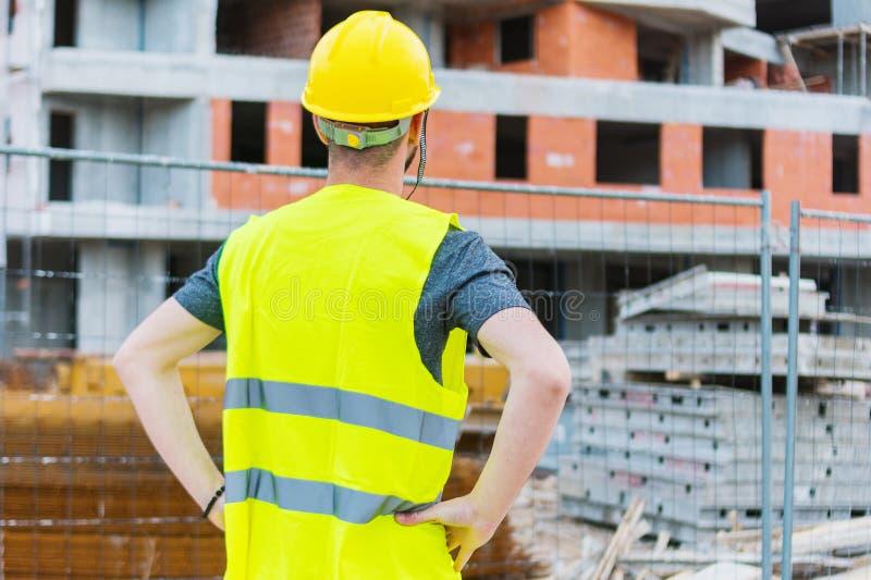 Errichtendes construciton Arbeitskraft enginneer stockfoto