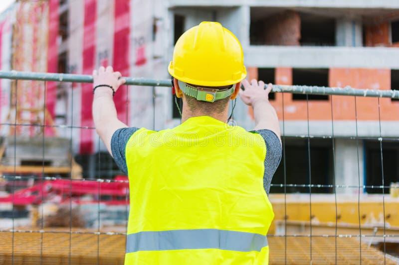 Errichtendes construciton Arbeitskraft enginneer lizenzfreie stockfotografie