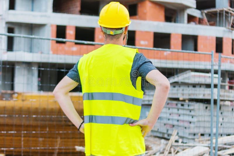Errichtendes construciton Arbeitskraft enginneer stockbilder