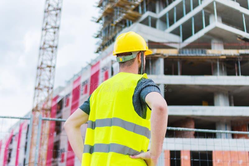 Errichtendes construciton Arbeitskraft enginneer lizenzfreie stockfotos