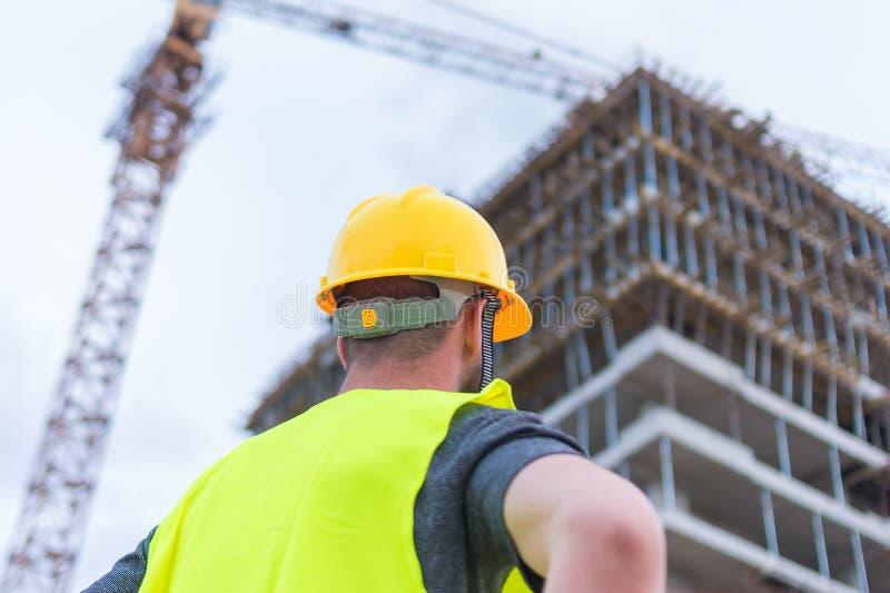 Errichtendes construciton Arbeitskraft enginneer stockbild