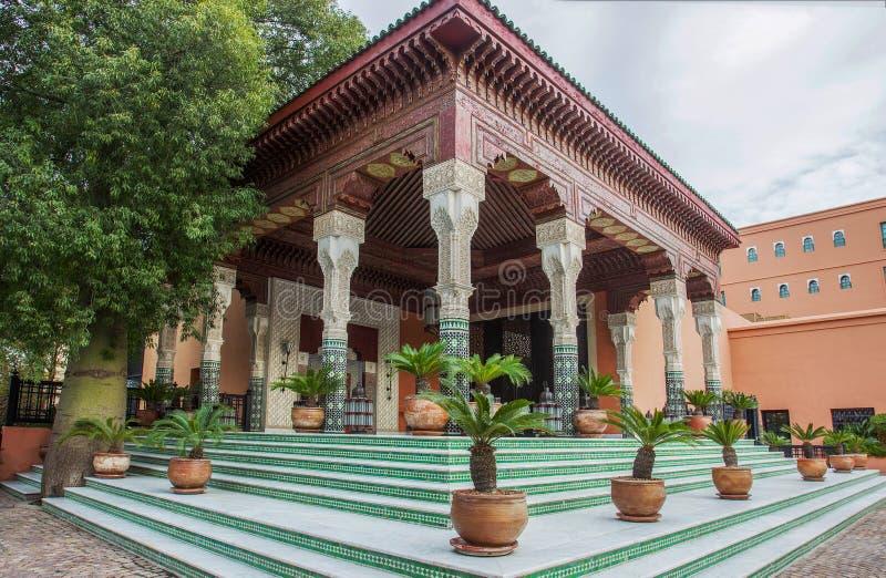 Errichtendes Hotel und Kasino 'La Mamounia Marrakesch 'in Marrakesch stockbild