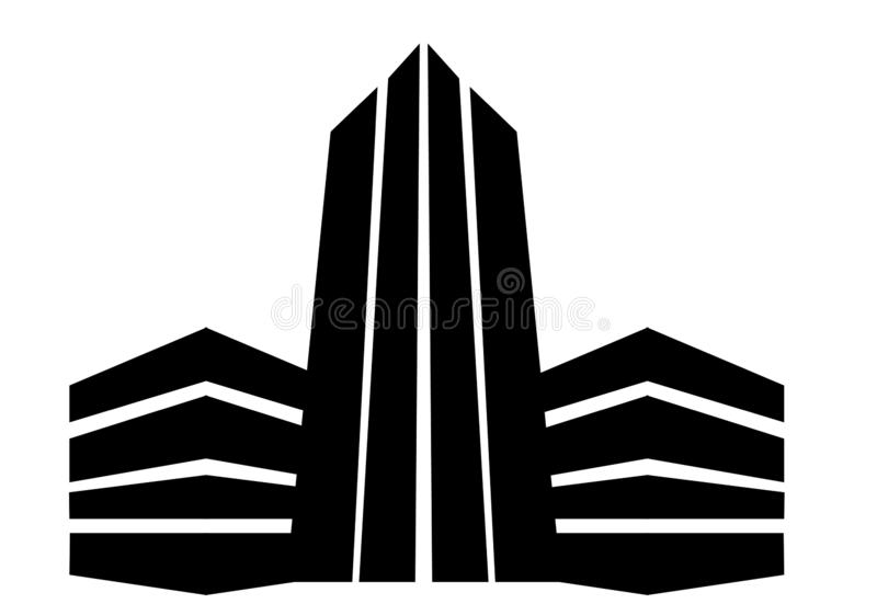 Errichtendes Logo drei lizenzfreie stockbilder