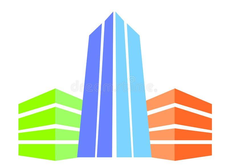 Errichtendes Logo drei lizenzfreie stockfotos