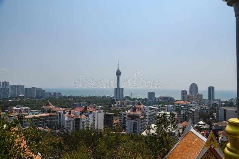 Errichtendes Stadtansicht pattya stockfotografie
