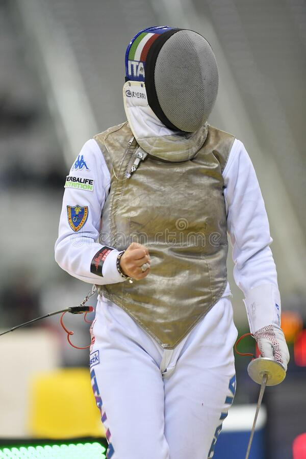 Sword FIE Fencing Grand Prix 2020 - Inalpi Trophy stock photography