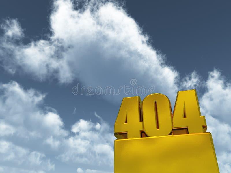 Erro 404 ilustração do vetor