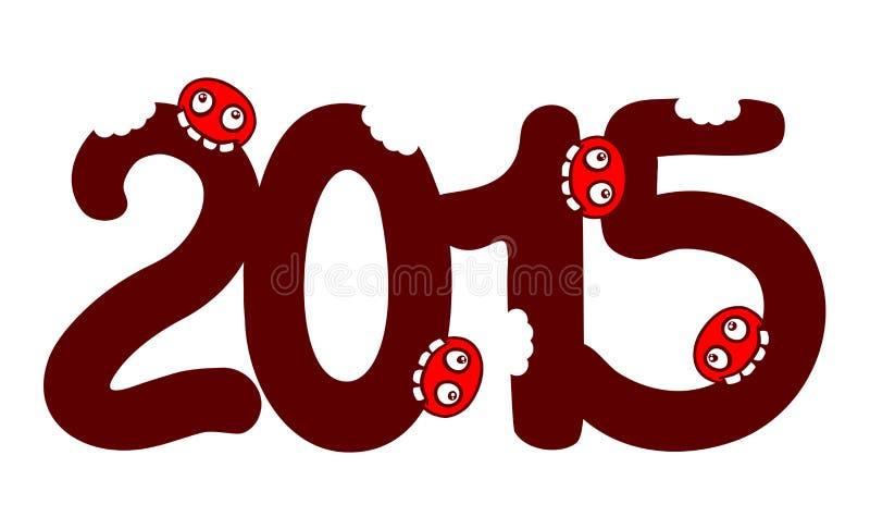 erro 2015 ilustração stock