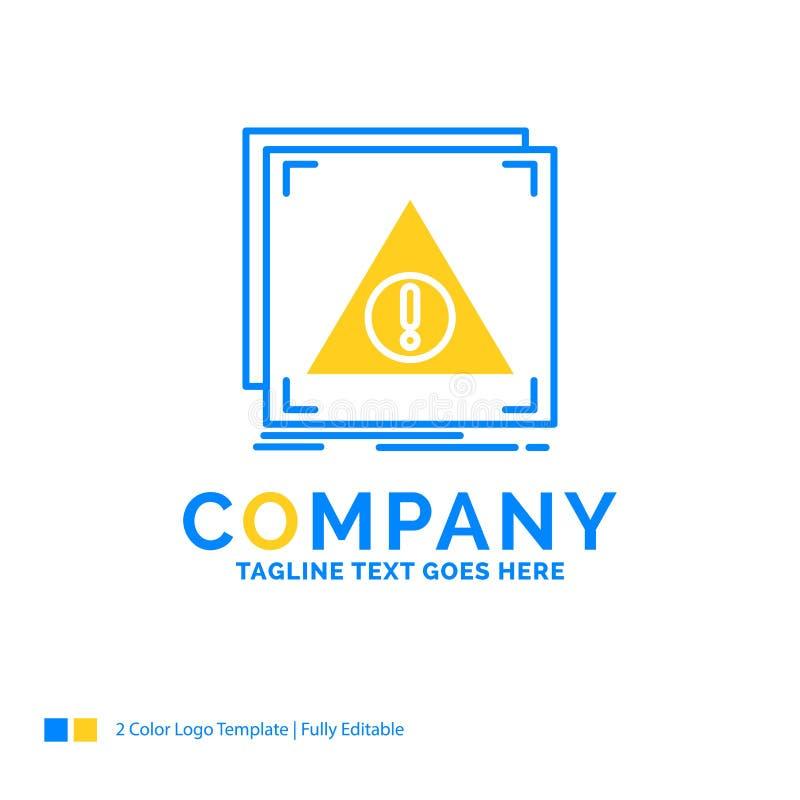 Erro, aplicação, negada, servidor, negócio amarelo azul L do alerta ilustração stock