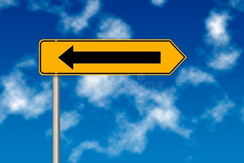 Erro com sinal de estrada imagem de stock