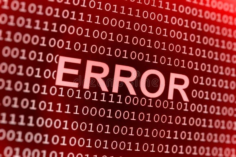 Erro do código binário imagens de stock royalty free