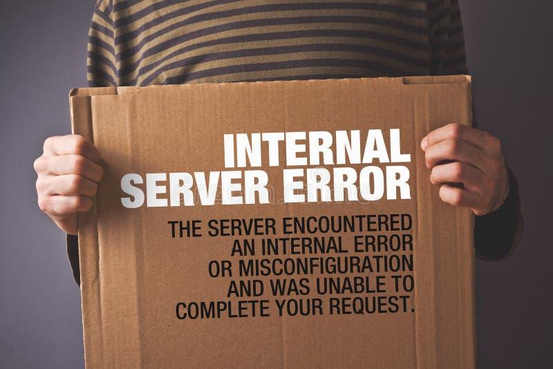Erro 500 do HTTP, conceito da página do erro de servidor imagem de stock royalty free