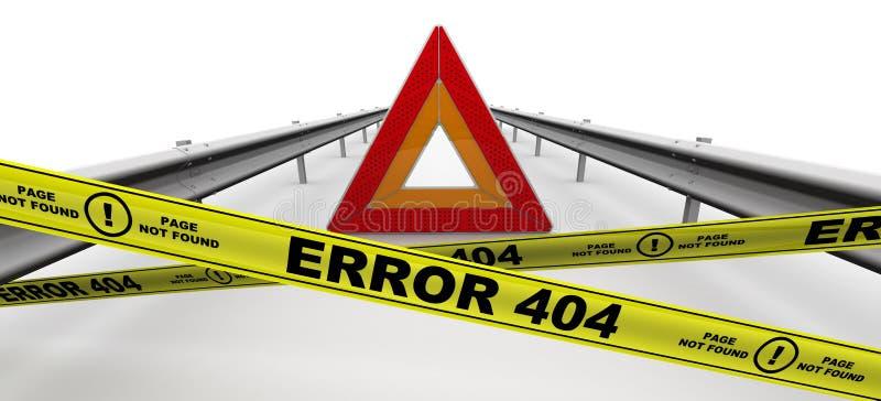 Erro 404 - página não encontrada ilustração royalty free