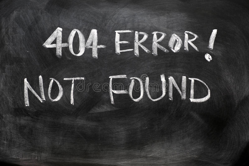 error 404 de no encontrado imágenes de archivo libres de regalías