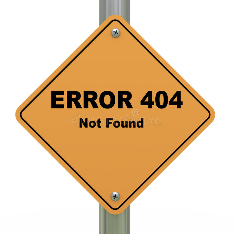 Download Error 404 Not Found Road Sign Stock Illustration - Illustration: 26248459