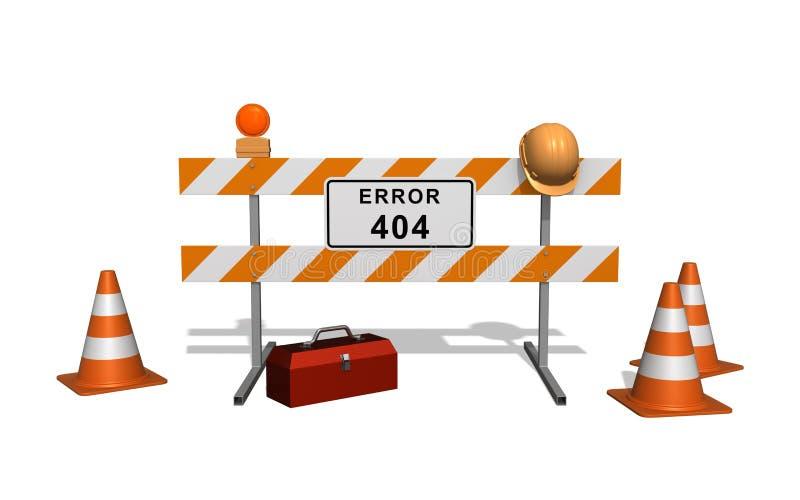 Error 404. Site under construction.  vector illustration