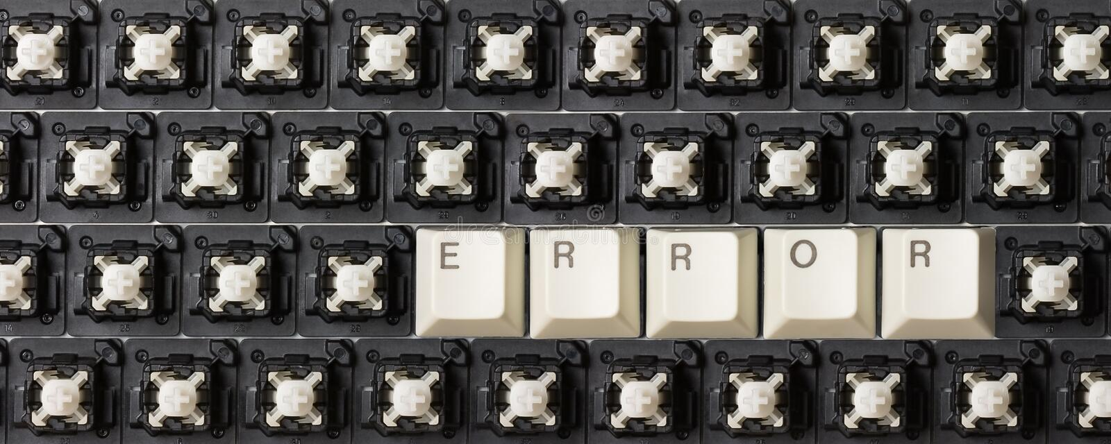 Error. Games with computer keyboard stock photography