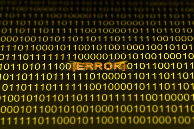 Download Error Code stock image. Image of binary, coding, language - 2198917