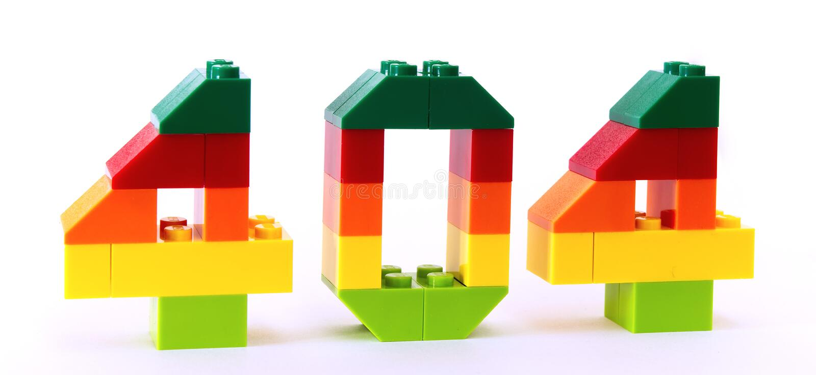 404 error code in blocks royalty free stock photos