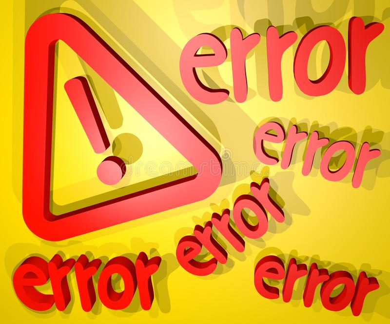 Download Error cover stock illustration. Image of message, illustration - 41364947