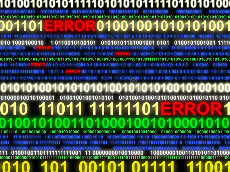 Error in datastream. Abstract representing error state within digital computer equipment stock photos