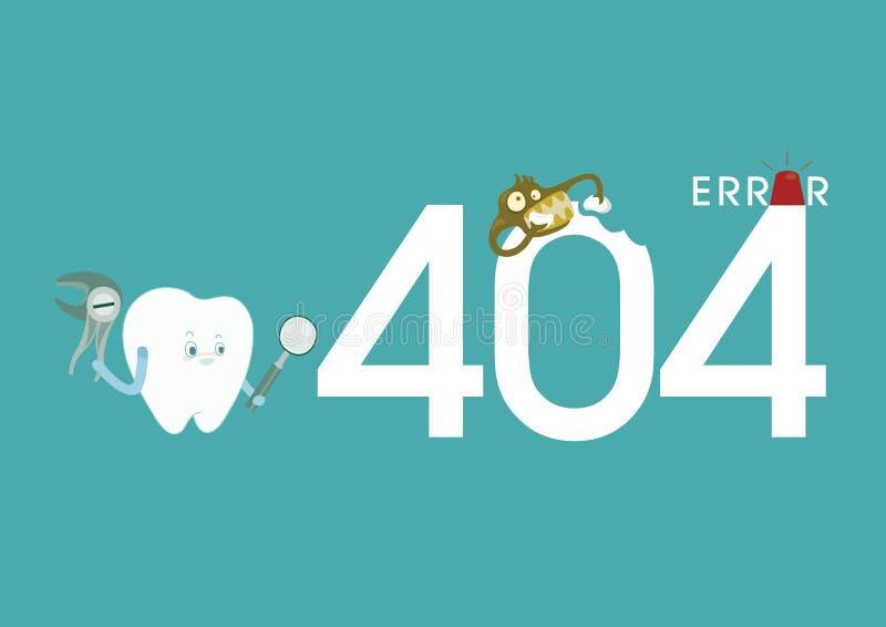 Error de dental libre illustration