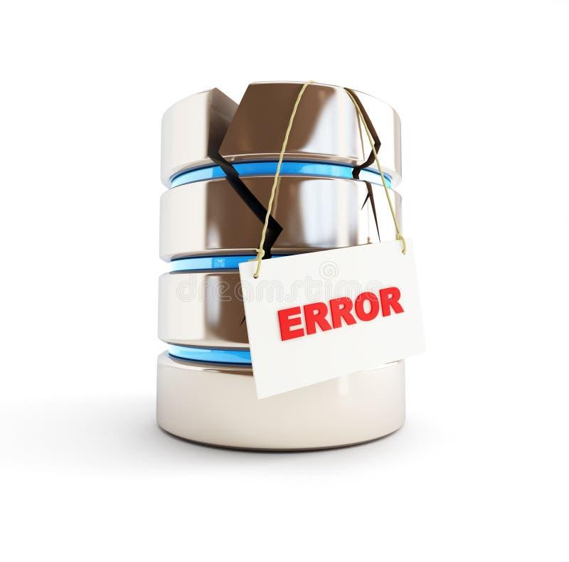 Error de la base de datos stock de ilustración