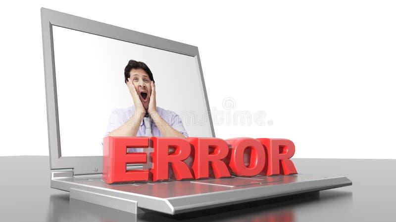 Error del ordenador foto de archivo