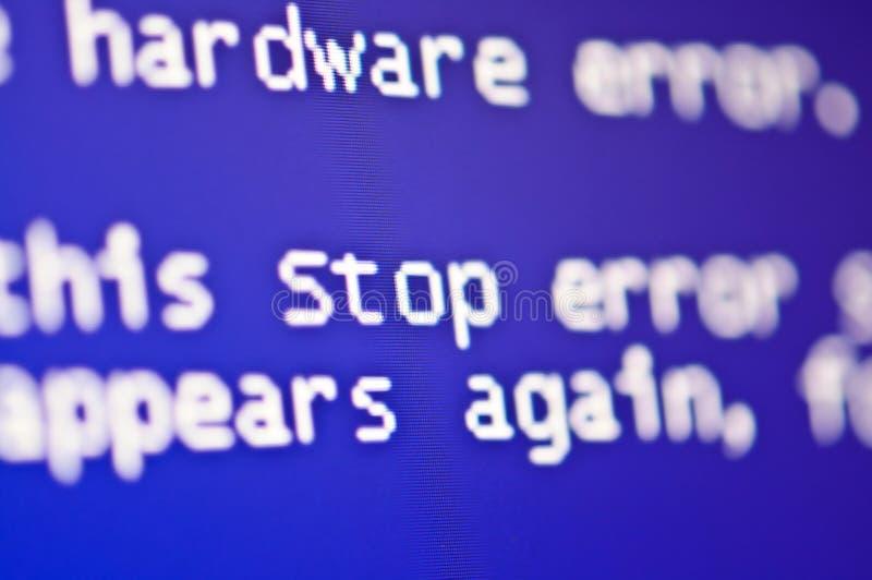 Error del ordenador fotografía de archivo