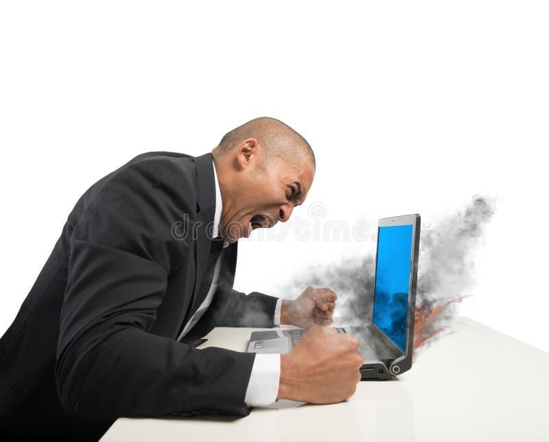 Error del ordenador de la pantalla azul imágenes de archivo libres de regalías