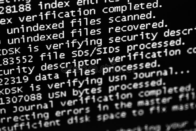 Error del programa de computadora fotografía de archivo