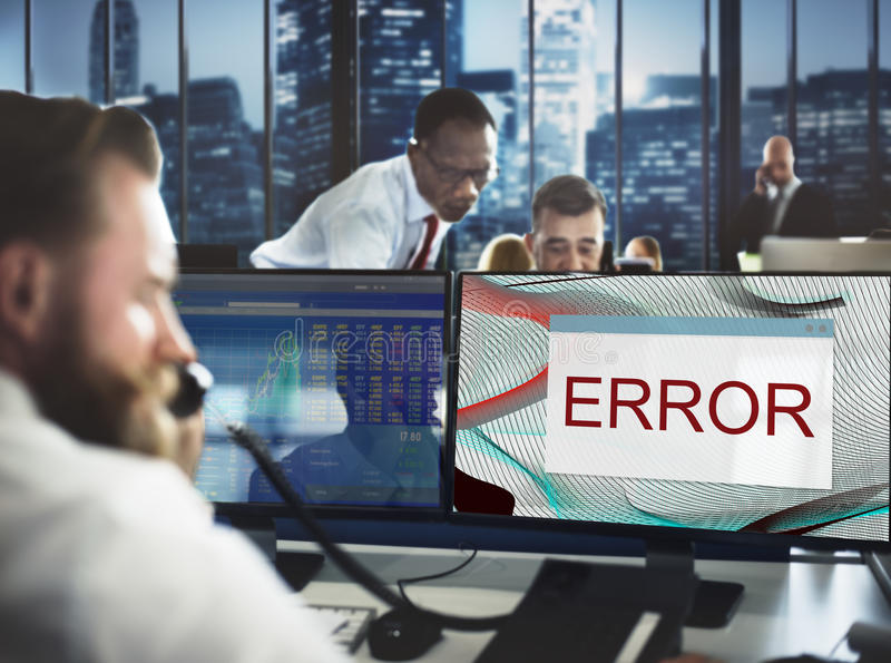 Error Disconnect Warning Failure AbEnd Concept stock photography