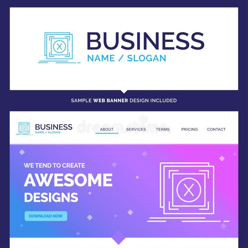 Error hermoso de la marca del concepto del negocio, uso, messag stock de ilustración
